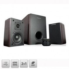 Sistem audio 2.1 Modecom MC-MHF60U Brown - Boxe PC