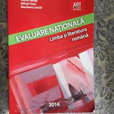 EVALUARE NATIONALA LIMBA SI LITERATURA ROMANA - IONITA, LASCAR, STAN - Carte Teste Nationale