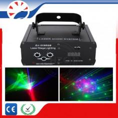 Laser lumini disco profesional Rosu Verde Albastru DMX - Laser lumini club