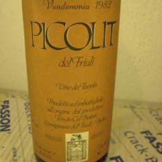 N. 37 - vin picolit, del friuli, tenuta CA BOLANI, recoltare 1982, cl 75 gr 14 - Vinde Colectie, Aroma: Sec, Sortiment: Alb, Zona: Europa