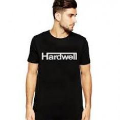 Tricou Hardwell L, Tricou personalizat, DJ, Tricou Fruit of the Loom - Tricou echipa fotbal, Marime: L, Culoare: Negru