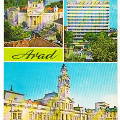 Bnk cp Arad - Vedere - circulata - marca fixa - Carte Postala Crisana dupa 1918, Printata