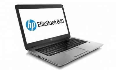 Laptop HP EliteBook 840 G1, Intel Core i7 Gen 4 4600U 2.1 GHz, 16 GB DDR3, 250 GB HDD SATA, WI-FI, Bluetooth, Webcam, Card Reader, Finger Print, foto