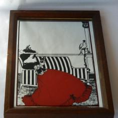 Tablou - oglinda - decoratiune vintage MADE IN ENGLAND