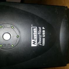 UPS Mustek PowerMust 1000P USB cu AVR de 600W, Cu management, Intre 1000 si 2499 VA, Protectie supratensiune