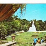Bnk cp Timisoara - Parcul Central - circulata - marca fixa - Carte Postala Banat dupa 1918, Printata