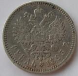 M. 1 rubla 1893 Rusia, argint