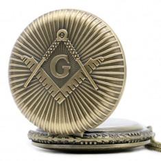 Ceas de buzunar emblema Francmasoneria - Ceas de buzunar vechi