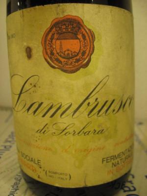 n. 27- vin lambrusco di sorbara, fermentazione natur, recoltare 1964, cl72 gr 11 foto
