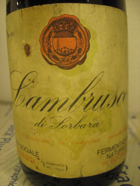 n. 27- vin lambrusco di sorbara, fermentazione natur, recoltare 1964, cl72 gr 11 foto mare