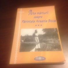PARINTELE ARSENIE BOCA, ALTE MARTURII
