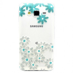 Husa Ultra-Slim Samsung Galaxy J5 2015 Gel TPU Flower Design - Husa Telefon Nokia