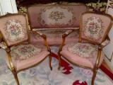 Salon/canapea cu fotolii stil baroc/rococo Ludovic,Franta,inceputul sec.XX, Sufragerii si mobilier salon, Louis XIII,XIV, XV, XVI, 1900 - 1949