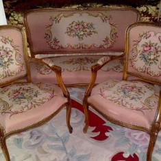 salon/canapea cu fotolii stil baroc/rococo Ludovic,Franta,inceputul sec.XX