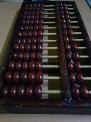 Numaratoare veche lemn,abac original,stantat,masiv,transport gratuit foto