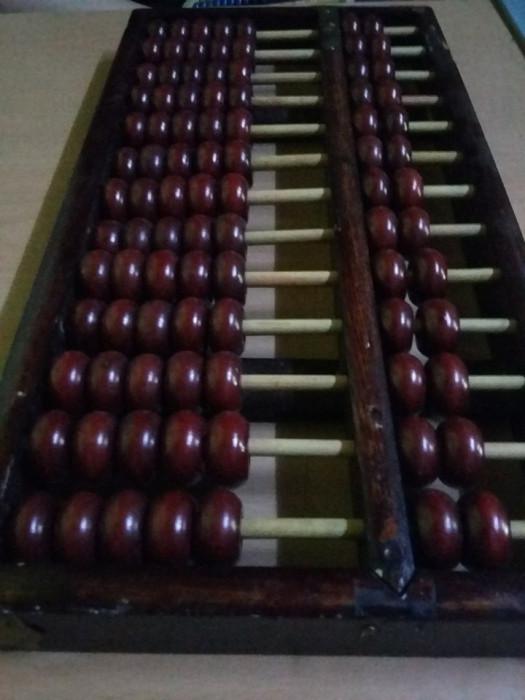 Numaratoare veche lemn,abac original,stantat,masiv,transport gratuit