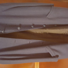 Palton dama stofa marime mare, Marime: Masura unica, Culoare: Bleumarin