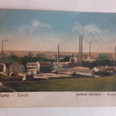 TURDA CARTIERUL FABRICILOR, cca 1930, CARTE POSTALA - Carte Postala Transilvania dupa 1918, Circulata, Printata