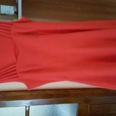 Rochie de zi midi corai, Marime: 40