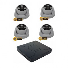 Kit 4 camere supraveghere dome interior hibrid Sony 2MP 4 In 1 Lentila fixa 1080P