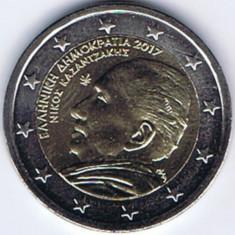 moneda 2 euro comemorativa GRECIA 2017_Nikos Kazantzakis - UNC