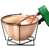 Ceaun din cupru cu malaxor 12 litri - oala, cratita