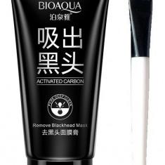 Set Masca Neagra crema BioAqua Black Mask tub 60ml si Pensula speciala aplicare - Masca fata