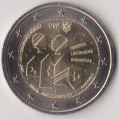 PORTUGALIA moneda 2 euro comemorativa 2017 - Politia Publica, UNC, Europa, Cupru-Nichel