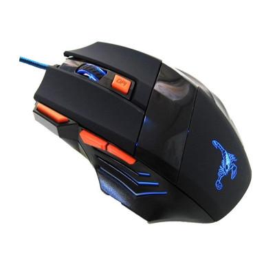 Mouse gaming Rotech 7D, USB, Negru foto