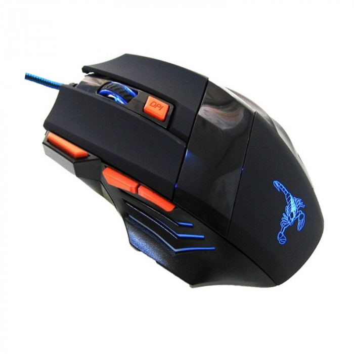 Mouse gaming Rotech 7D, USB, Negru