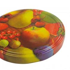Capace 82 mm cu filet, decor fructat, 10 bucati