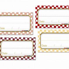 Etichete pentru conserve de mezelarie si mancaruri gatite, set de 84