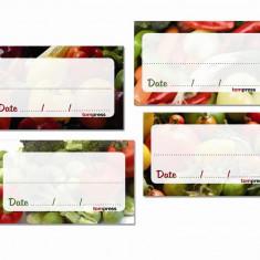 Etichete pentru conserve de legume, set de 84