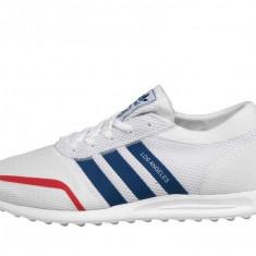 Adidasi 100 % originali barbati ADIDAS LOS ANGELES - Adidasi barbati, Marime: 40, 40.5, 42, 43 1/3, 44, 44 2/3, Culoare: Alb, Din imagine, Textil