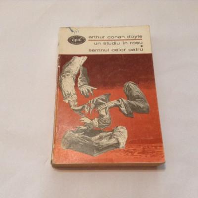 UN STUDIU IN ROSU * IN SEMNUL CELOR PATRU - Arthur Conan Doyle,r15 foto