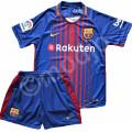 Compleu Echipament FOTBAL FC Barcelona MESSI Neymar Model 2018 copii 4-14 ani