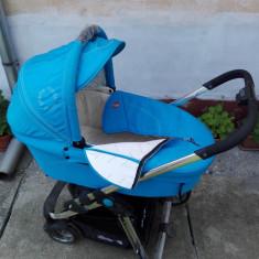 Cărucior bebe Pierre Cardin - Carucior copii 2 in 1 Pierre Cardin, Albastru