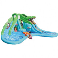 Saltea Gonflabila Crocodil cu Tobogane cu Apa Happy Hop