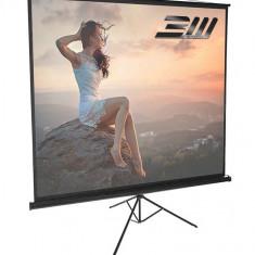 Ecran proiectie trepied Blackmount 180 x 180 cm
