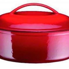 Cucta din fonta, ovala, 34 cm, 4 litri - Arta locala