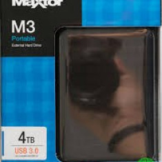 HDD Extern Maxtor M3 Portable 4TB USB 3.0, 2.5inch, sigilat, garantie, Peste 4 TB, Rotatii: 7200, 16 MB