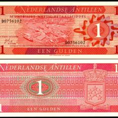 Antilele Olandeze 1970 - 1 gulden UNC - bancnota america