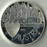 20 EURO AUSTRIA 1996, ARGINT 925/1000, 24 GRAME., Europa