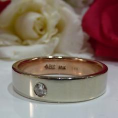Verigheta aur 18k cu diamante de la Brilliant Earth - Inel aur, Culoare: Alb