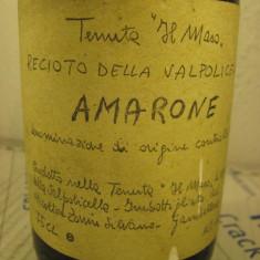 Vin recinotto valpolicella AMARONE classico, doc, recoltare 1977 cl 75 gr 14 - Vinde Colectie, Aroma: Sec, Sortiment: Rosu, Zona: Europa