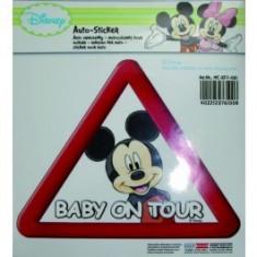 Abtibild pentru luneta Mickey Mouse Baby on Tour, stickere auto - Stickere tuning