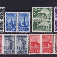 ROMANIA 1940  LP 141  STRAJA  TARII  VEDERI  PERECHE SERII  MNH