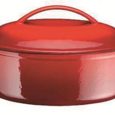 Cucta din fonta, ovala, 28 cm, 2 litri - Arta locala