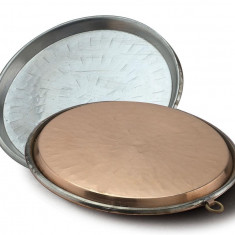 Tava pentru socca (clatite sarate din faina de naut), din cupru, 50 cm - Tava cuptor