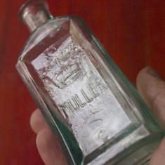 Sticla veche cu scris in relief MULLER / model deosebit !!! - Raritate